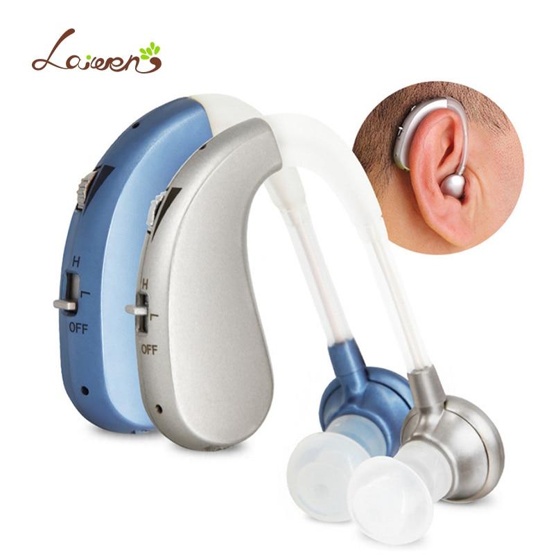Ricaricabile Mini Digital Hearing Aid Amplificatori Audio Senza Fili Dell'orecchio Aiuti per Anziani Moderata a Grave Perdita di Trasporto di Goccia