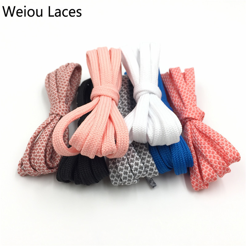 (30Pairs/Lot)Weiou Outdoor Colorful Flat Bootlace For Sneakers Casual Shoes Laces Strings Athletic Polyester Custom Design Lacet pz0 5 16 0 5 16mm2 crimping tool bootlace ferrule crimper and 1k 12 awg en4012 bare bootlace wire ferrules