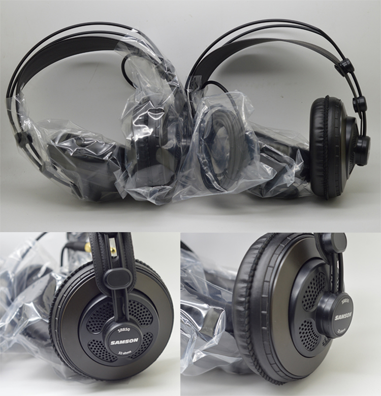 High Quality Samson SR850 professional monitor earphones Studio Reference Headphones one pair 1 pieces oneodio professional studio headphones dj stereo headphones studio monitor gaming headset 3 5mm 6 3mm cable for xiaomi phones pc