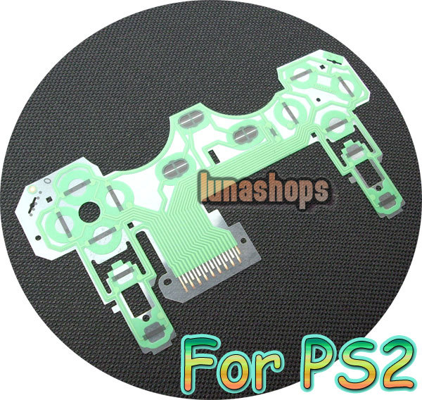 US $4 99 |PS2 controller Button Ribbon Repair Keypad Flex Cable circuit  board Part accessories LN002318-in Earphone Accessories from Consumer