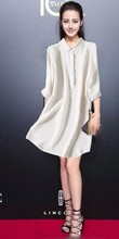 All-match temperament pure heavy silk fabric 30 white shirts lengthened super thick