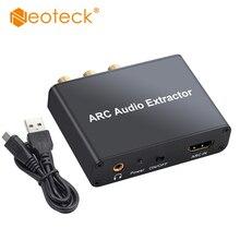 Neoteck алюминиевый ЦАП HDMI аудио экстрактор 5,1 ARC HDMI аудио экстрактор ЦАП SPDIF коаксиальный RCA 3,5 мм выход цифровой аналоговый