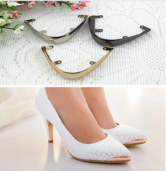 Free Shipping (6 PCS/lot) Fashion Pointed Shoes Protection Shoes Worn Restoration Pointed Head Hollow Metal Cover Repair Parts