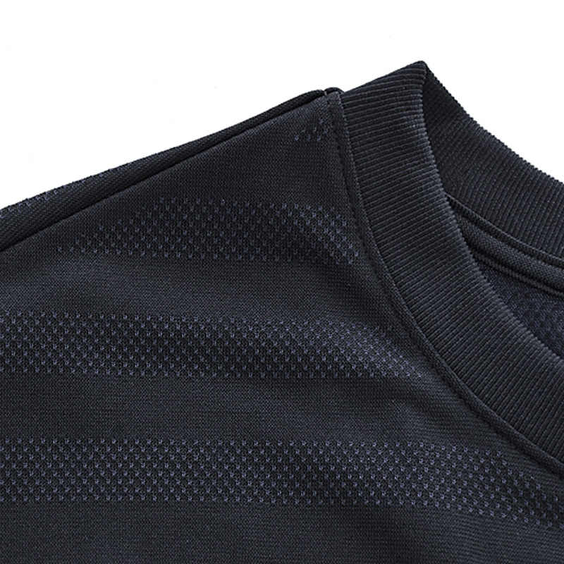 (Break Code) li-Ning Mannen Running T-shirt 65% Polyester 35% Nylon Naadloze Tee Slim Fit Voering Li Ning Sport Tops ATSN191 MTS2886