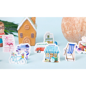 Image 3 - 20packs/lot Cartridges Stickers Go To The Beach To Travel Pocket Account Album DIY Decorative Sealing Stickers