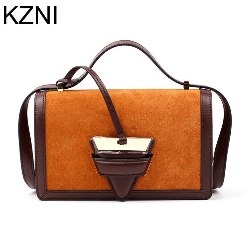 ФОТО KZNI womens genuine leather crossbody bag luxury brand bag leather bags women bolsas femininas bolsas de marcas famosas L032903