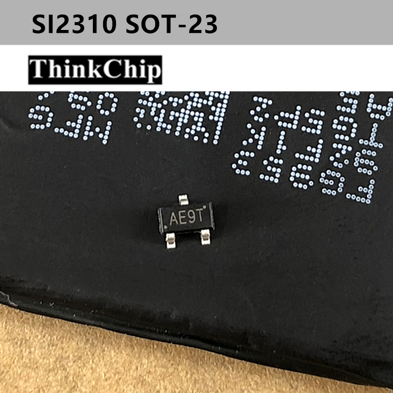 Free Shipping 100pcs/lot SI2310 AE9T SOT-23 MOSFET Transistor, N Channeenhancement-mode Power MOSFET Suitable For  NEW Original