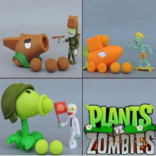 С Opp, Растения против Зомби Peashooter ПВЗ серии ПВХ фигурку Модель игрушки подарки для детей Высокое качество Brinquedos,