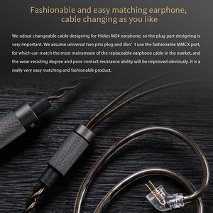 Image 5 - HIDIZS Hybrid Driver (3 Knowles BA+1 DD) MS4 HIFI In Ear Earphone IEM with 2 Pin 0.78mm Detachable Cable