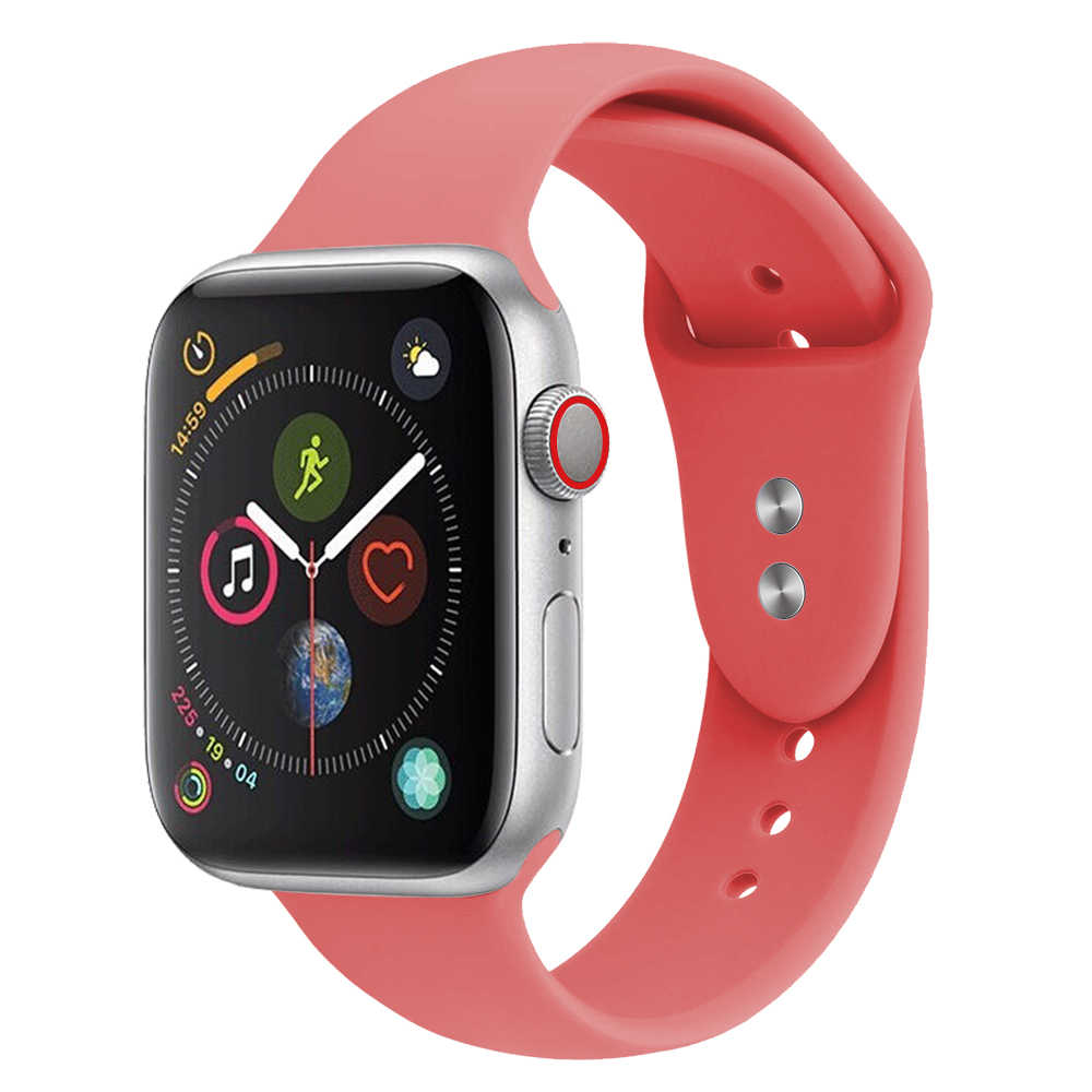 Soft Silicone Replacement Sport Band For 38mm 42mm Apple Watch Series 1 2 3 4 Wrist Bracelet Strap Sports Edition