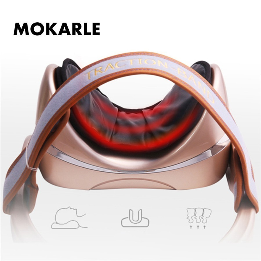 Cervical vertebra traction device relief stress neck muscle relax support medical inflatable collar massager Cervical correction ifory health care inflatable cervical collar traction device neck stretcher protector vertebra traction massager medical care