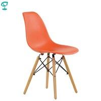 95240 Barneo N 12 Plastic Wood Kitchen Breakfast Interior Stool Bar Chair Kitchen Furniture Orange free shipping in Russia