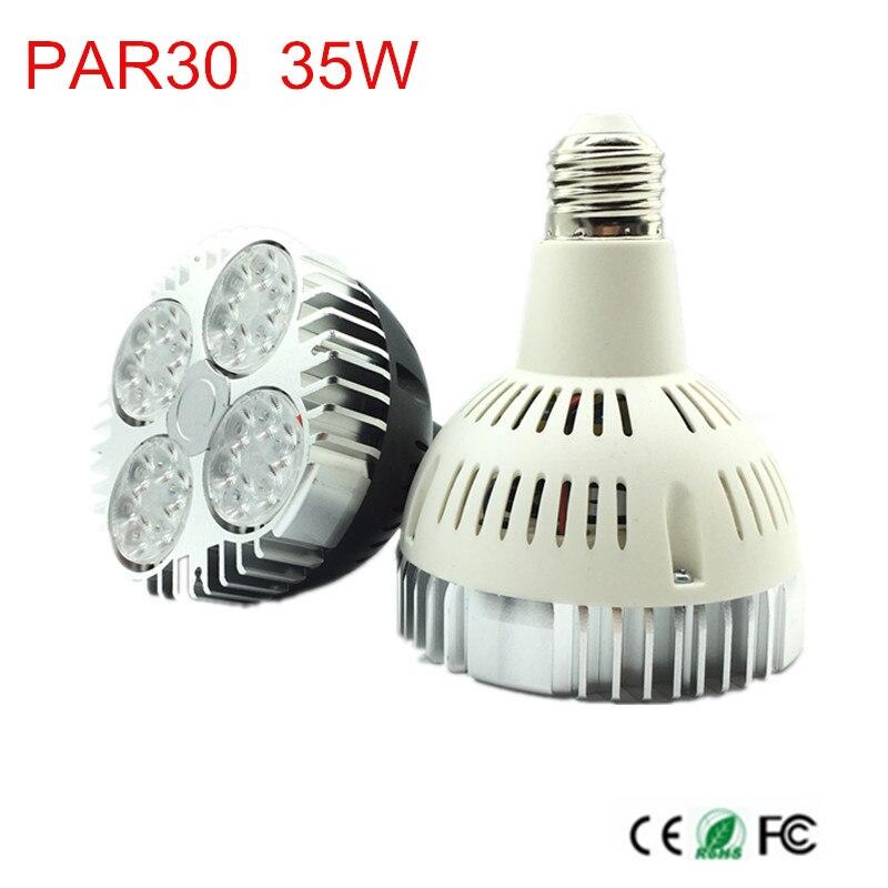 35 W Par30 LED Bulb Spot Light E26/E27 CONDUZIU a Iluminação Da Lâmpada Branco Quente/Natura Branco Branco/Frio branco 85-265 V diodo emissor de luz interior lâmpada luzes