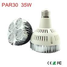 35 Вт Par30 светодиодный лампочка направленного света E26/E27 светодиодное освещение, лампа теплый белый/натура белый/холодный белый 85-265 V Светодиодный комнатные лампочки огни