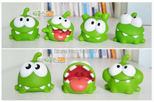 LOSS SALE Free shipping 7cm 7pcs/lot om nom cut the rope plush cut the rope figure toys game Toys for Children Christmas gift