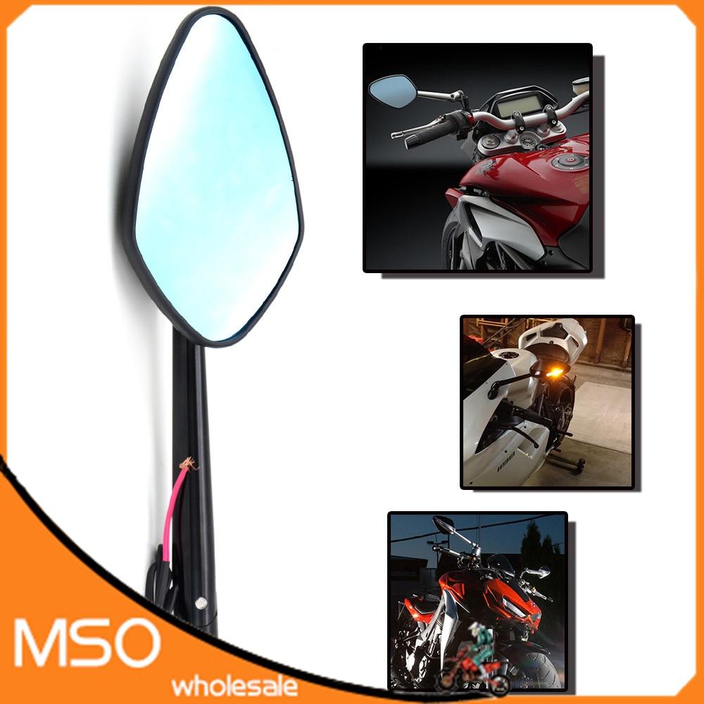 8 MM 10 MM universel pliant moto miroir moto rétroviseurs latéraux rétroviseur pour honda cbr 600 f4i f4 f3 f2