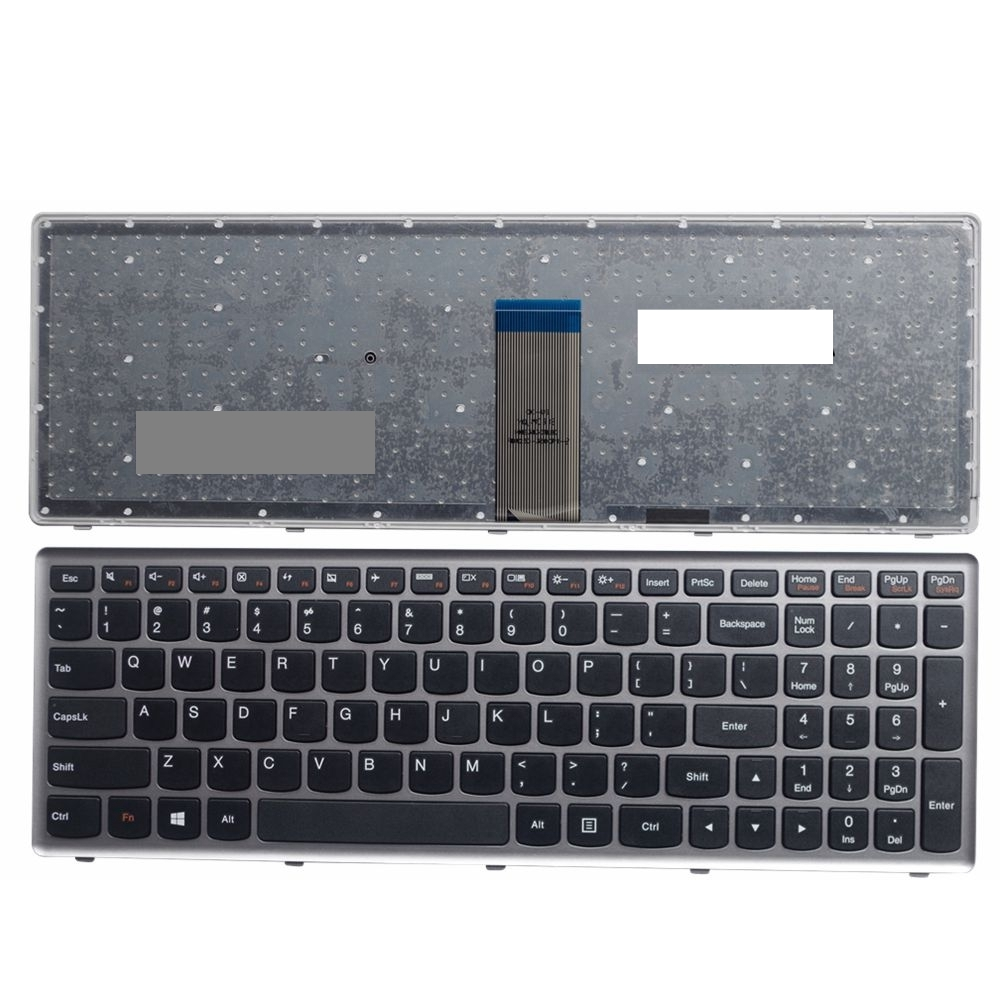 US silver New English Replace laptop keyboard For Lenovo U510 U510 IFI z710|Replacement Keyboards|Computer & Office - title=