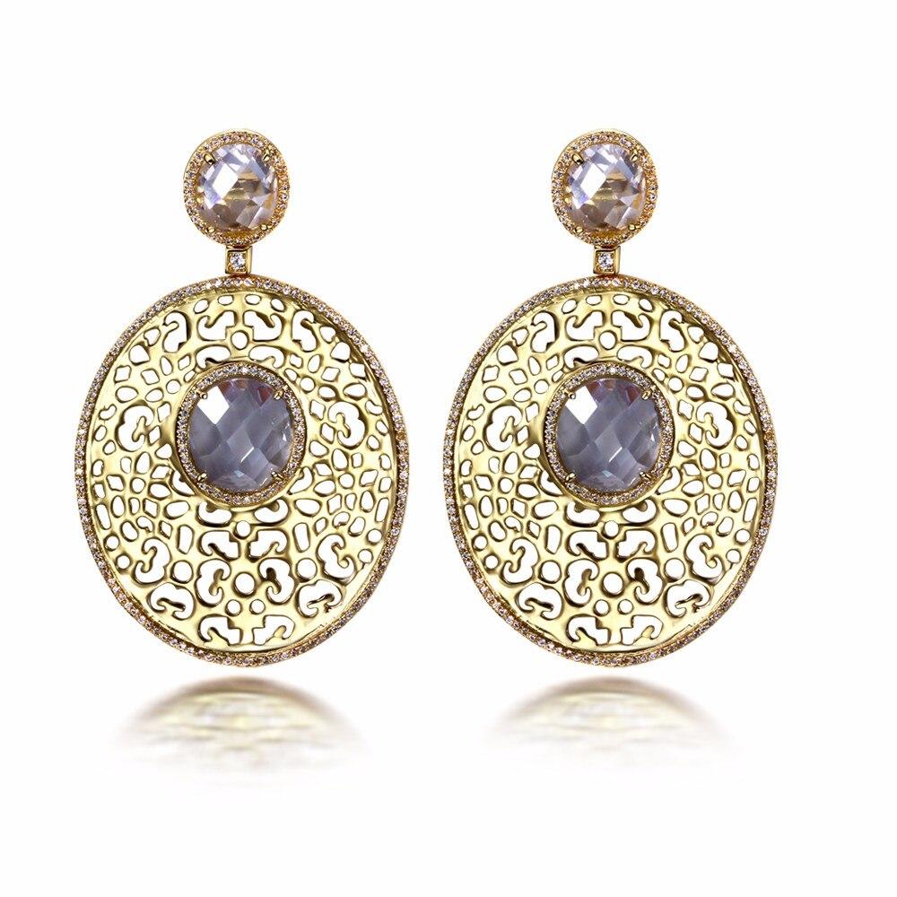 trending earrings 2017 wholesale gold color unique jewelry