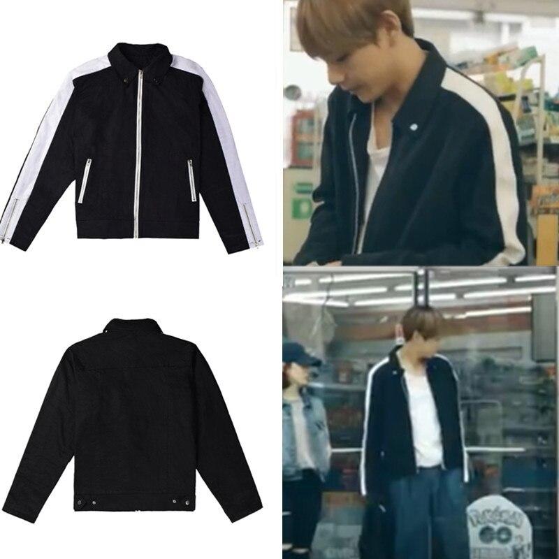 New Kpop Bantan Boys   V MV Same Denim Coat Cotton Autumn Winter Fashion Korea Style Tops Clothes bts v warriors jacket