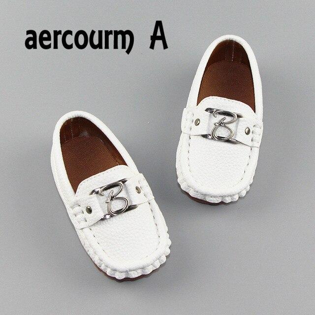 Aercourm Новый 2017 Детей Из Натуральной Кожи Shoes Малышей Первый Ходунки Shoes Мальчики Metal Shoes Дышащий Детские Кроссовки 21-30