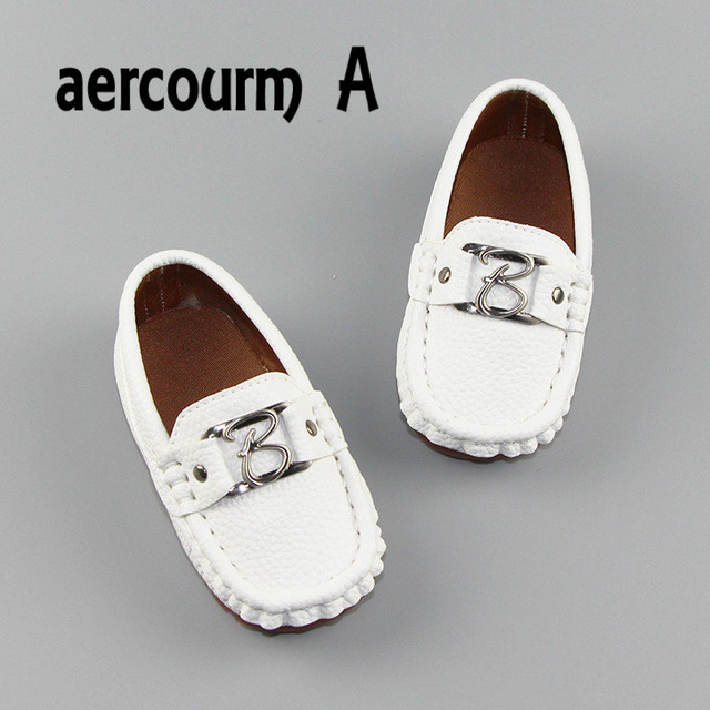 Aercourm A New 2017 Children Genuine Leather Shoes Toddler First Walkers Shoes Boys Metal Shoes Breathable Baby Sneakers 21-30