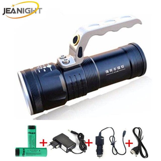 Longue port e tactique led projecteur torche recherche - Lampe torche longue portee rechargeable ...