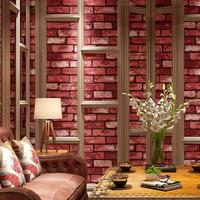3D Chinese Retro Brick Wallpaper Roll Red brick living room bedroom background wallpaper
