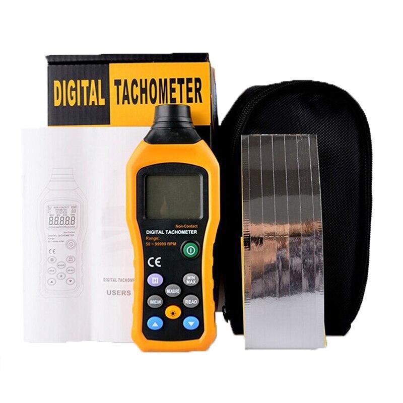 Non-Contact Digital Tachometer Speedometer Gauge Led-light 50RPM-99999RPM Speed Probe Meter Detector Sensor Tester Testing Tools  цены