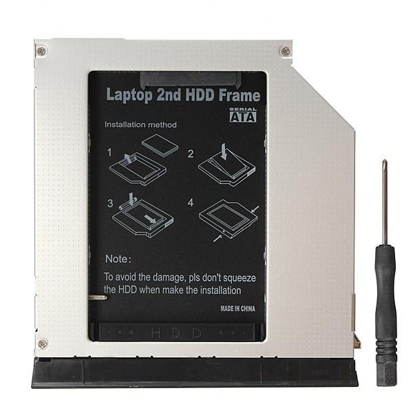 High Quality 2nd SATA HDD SSD Caddy Bay Adapter For Dell E6420 E6520 E6320 E6330 E6430 E6530