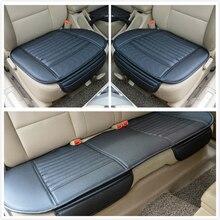 Auto sitzkissen qualität tragen beständig holzkohle stück set leder 4l c5 k4 X3 X1 X6 X5 S80L S60L c70 S60 sitzkissen
