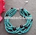 6 strands Blue Turquoise Onyx Bracelet +FREE SHIPPMENT