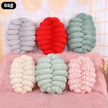 AAG Creative Nordic Knot Ball Cushion Pillow Baby Calm Sleep Dolls Stuffed Toys Chair Back Kid Adult Bedroom Decoration