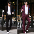 2016 Magro Custom Fit Tuxedo Bridegroon Vestido de Negócios Ternos Blazer Dos Homens, Terno Da Moda Blazer, Jacket + Pants mens ternos com calças