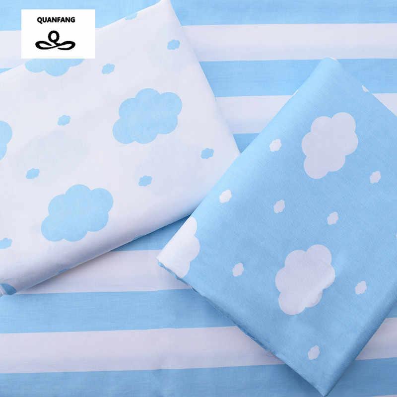 Tissu de coton sergé imprimé nuages pour la couture Quilting tissu bleu ciel draps de lit bébé vêtements de nuit enfants robe jupe matériel