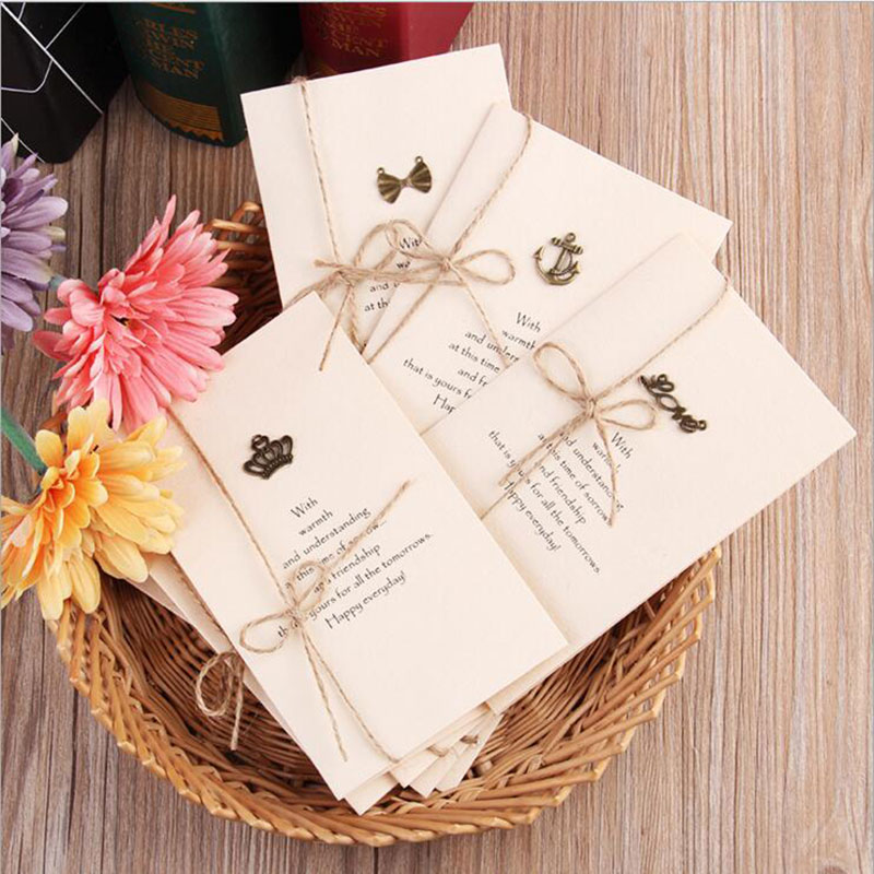 10PCS Pack 2018 Christmas Vintage Souvenirs Postcards Handmade Custom Greeting Cards Gifts Birthday Invitations