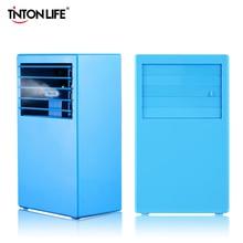 TINTON VIDA VERANO AZUL Mesa Portátil Ventilador Eléctrico Puede Agregar Hielo Eficiente de la Energía 110-240 V Mini Ventiladores de Refrigeración el Aire