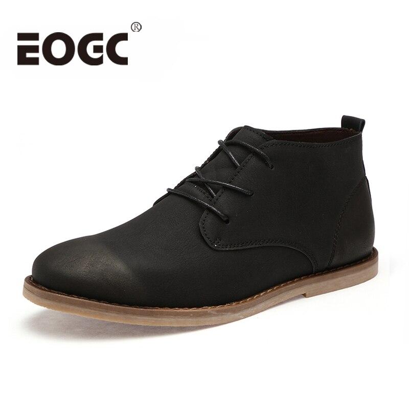 Autumn winter Men boots 2018 Fashion Lace-Up Men Ankle boots black Chelsea Boots Casual leather shoes male zapatillas hombre