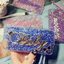 Custom Name Glitter Bling Case For iPhone 11 12Min Pro X XR XS Max 7 8 Plus Samsung Galaxy S8 S9 S10 S20 FE Note 8 9 10 20 Ultra