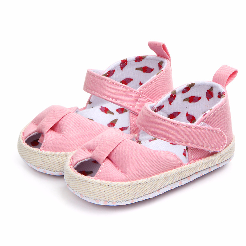 Newborn Baby Girls Shoes Infant Toddler Crib Shoes Soft Sole Baby Shoes For Girl Butterfly-Knot Fir