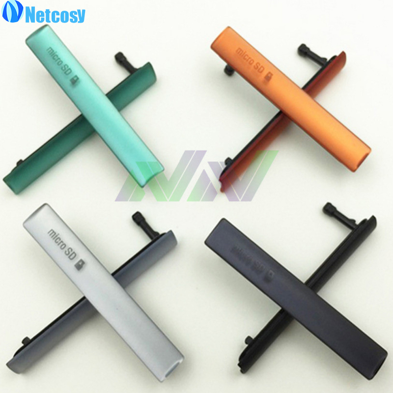 Netcosy For Sony Xperia Z3 Mini Compact D5803 D5833 USB Charging Port Dust Plug Cover + Micro SD Port +SIM Card Port Slot