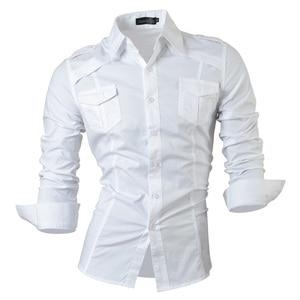 Image 2 - กางเกงยีนส์ฤดูใบไม้ผลิฤดูใบไม้ร่วงคุณสมบัติเสื้อผู้ชายกางเกงไม่เป็นทางการเสื้อใหม่มาถึงเสื้อแขนยาวสบายๆ SLIM FIT ชายเสื้อ 8001