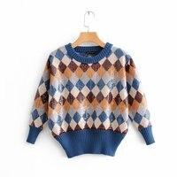 2018 European Autumn New Women's Sweater Fashion Diamond Sequin O neck Pullover Fall Sweaters for Women