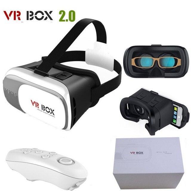 """Горячая Google картон HeadMount VR 2.0 Виртуальную Версию 3D Очки для 3.5 """"-6.0"""" Телефон + bluetooth пульт дистанционного управления gamper"""
