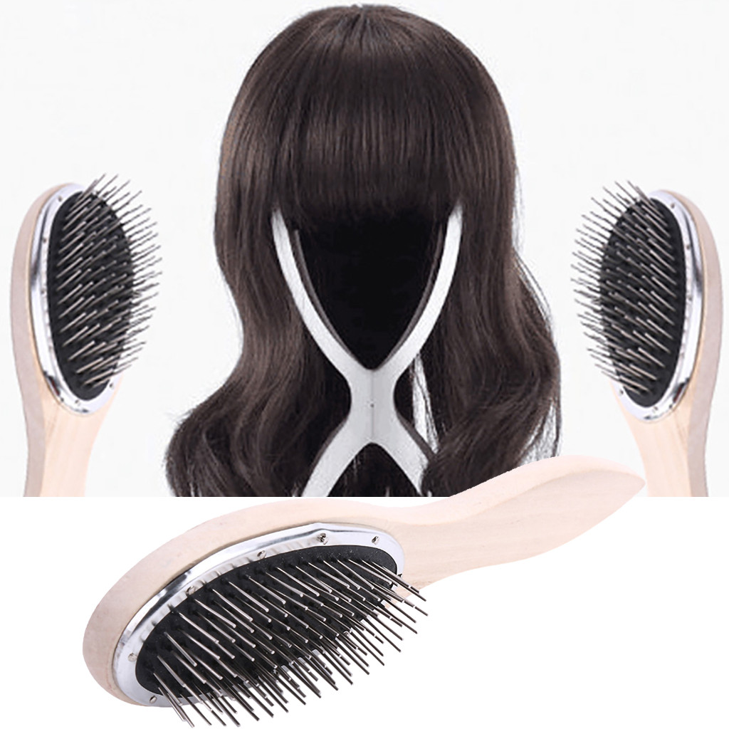 Large Wide Tooth Comb Metal Hair Brush Comb Hair Wig Care Women Accessories New 2U81221
