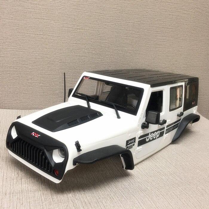 1 компл. 1/10 Wrangler корпус автомобиля 313 мм колеса расстояние Жесткий корпус с крышка капота + расклешенные Fender + спереди на входе решетка компле