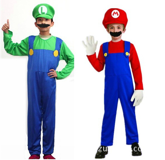 Funy Cosplay Kostum Super Mario Luigi Brothers Fancy Dress Up Pesta - Kostum - Foto 3