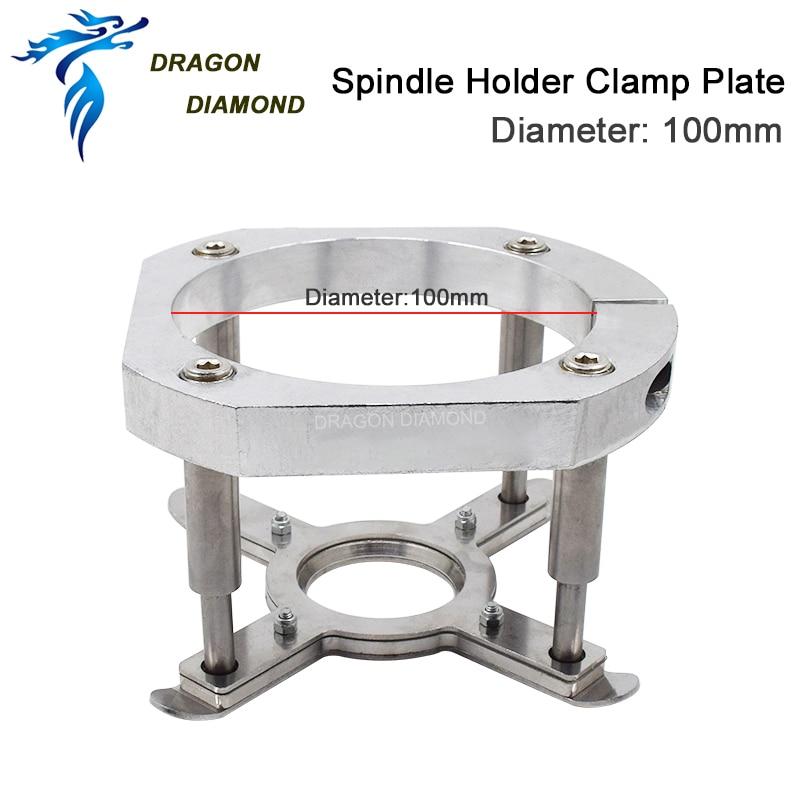 3kw / 4kw spindlihoidja 100mm klambriplaat DIY CNC ruuteri materjali automaatse surveplaadi jaoks