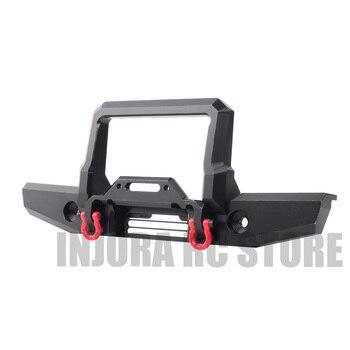 De Metal RC Crawler Amortecedor Dianteiro com Luz Led para 1/10 RC Crawler Traxxas TRX-4 TRX4 Atualize Parts