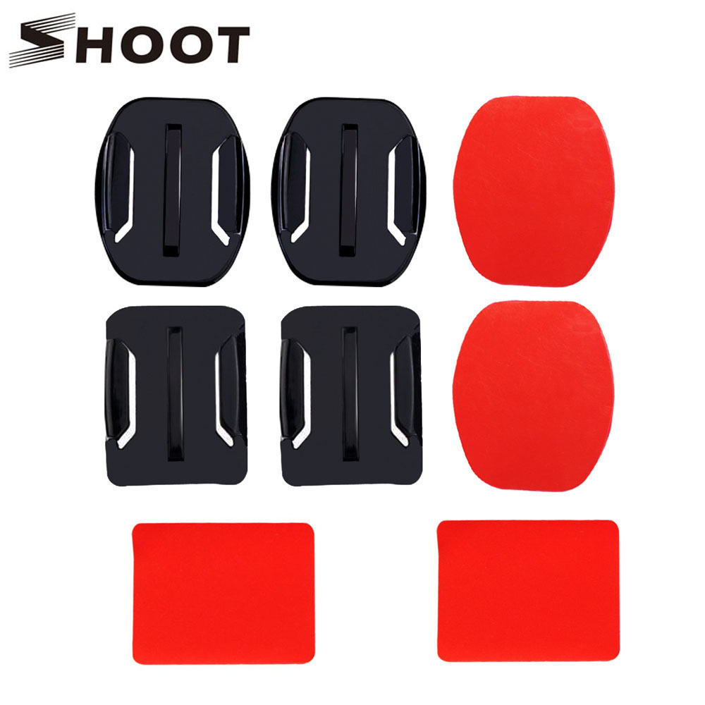 SHOOT Double Side Sticker With Flat And Caved Surface Base For Gopro H