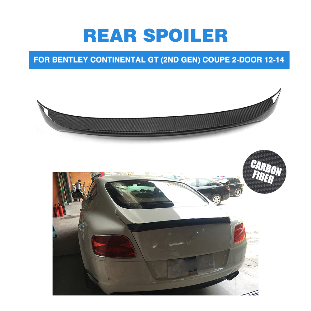 Bentley Continental Gt Convertible 1900 Gray For Sale: Carbon Fiber Rear Trunk Boot Lip Spoiler Wing Case For